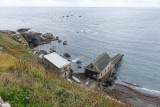 View down to the old lifeboat station