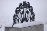 Sculpture... Machine Lace.. in the snow