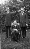 Ernest Shaw standlng on left,  Richard Shaw standing on right & Enos seated