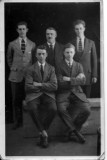 Richard Shaw jnr with sons, Wilfred Bernard (standing right), Harold Shaw (standing left), Samuel Shaw (seated right) + unknown