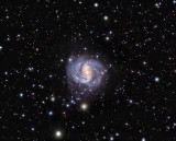 Southern Spiral Galaxy NGC1672 6 hours 40 minutes