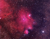 IC1274 Nebula at the bottom of the Lagoon Nebula 10 hours 40 minutes
