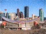 Colored Pencil Cityscape