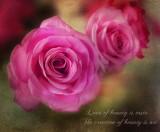 Love of beauty...