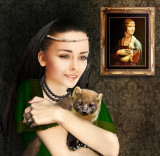 Lady with a beech marten...