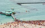 Annual Moloka'i to Oahu Outrigger Canoe Race Finish - 2002 -  (Moloka'i Hoe)