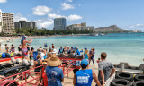 Hawaiian Airlines  Annual Na Wahine O Ke Kai  Finish - 2014 -  Moloka'i to Waikiki