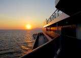 Lever de soleil en mer Égée