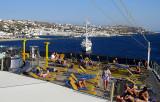 Le Costa dans le port de Mikonos