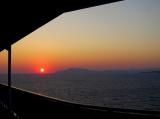 Mer Égée tôt le matin