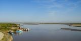 Vers Boukhara: sur le nouveau pont sur le fleuve...(?)