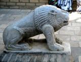 Lion sculpté à Boukhara