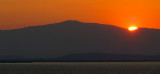 Lever de soleil en Turquie dans le golfe d'Izmir