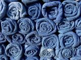 serviettes bleues