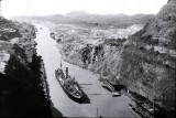 canal de Panama,  photo d'époque circa 1950
