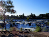 Promenade le long de la Snake River à Idaho Falls