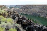 Le pont sur la Snake River à Twin Falls