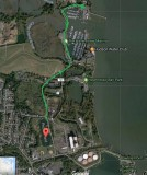 bike/Triking in Haverstraw from Pecks Pond along River Rd to North Marina and back.