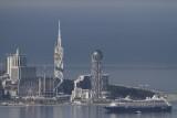 Zicht op Batumi vanaf telpost 1