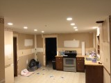 Ceiling smoothed and cans installed - 1