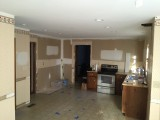 Ceiling smoothed and cans installed - 2