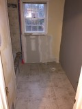 Floor tile all grouted