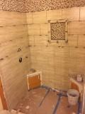 Shower tile in progress - 2