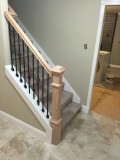 New railing and spindles