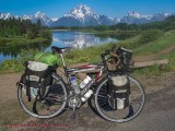 475  Justin touring Wyoming - Giant OCR Touring touring bike