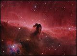The Horsehead nebula Ha- (RGB)