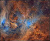 A closer look of the  Bok globules in the Running chicken nebula
