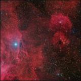 The Running Chicken WING (IC 2944) - RGB + Hydrogen Alpha