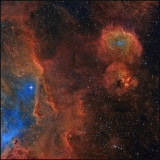 The Running Chicken WING (IC 2944) - Hubble color mapping