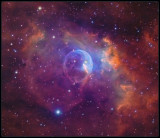 The Bubble nebula - a closer look