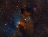 The Cave nebula - Hubble color mapping