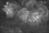 Messier 8 wide field Hydrogen Alpha image only