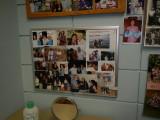 Friends board in her office