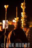 Pilgrims holding Quiotes