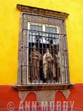 Saints in the window