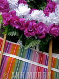 Shopping Bag and Paper Flowers