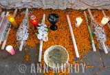 Candles in front of the altar