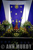 Church altar with the Madre Dolorosa