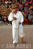 Mask dancer on the plaza