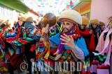 Parachico dancers in the street