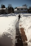 Making a path for the snow blower