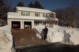 Done shoveling and snow blowing