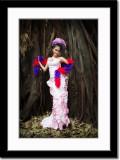Posing in Front of Indoor Banyan Tree