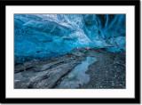 Inside ice cave of Vatnajökull glacier