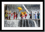 Barong dance at waterfall