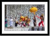 Barong dance at waterfall 2